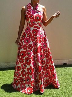 Ericdress African Fashion Floor-Length Sleeveless Expansion Floral Dress We Offer Top Good Quality Cheap Clothes For Women And Men Clothing Wholesaler, Get Affordable Clothing At Worldwide. Ankara Maxi Dress, African Maxi Dresses, Cheap Maxi Dresses, Latest African Fashion Dresses, African Dresses For Women, African Print Fashion, African Attire, Casual Dresses, Backless Maxi Dresses