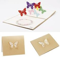 Butterfly Card Spiral Pop Up/pattern kirigami