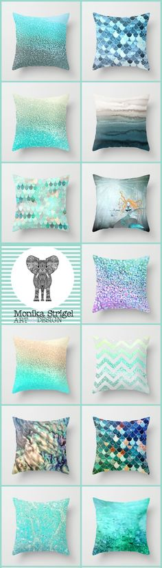 Add some mermaid magic to your home or apartment. Mermaids are one of the top summer trends of Ocean Bedroom, Mermaid Bedroom, Mermaid Pillow, Girls Bedroom, Bedroom Decor, Bedroom Ideas, Mermaid Home Decor, Mermaid Nursery, Bedrooms