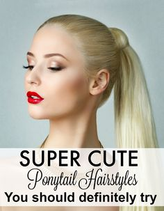 These super cute ponytail hairstyles are easy and perfect for the gym to a night out on the town. I love the tutorial for the perfect everywhere ponytail.
