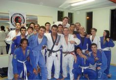 My teacher, friend, me and my family (brown belt yet)
