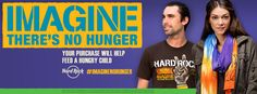 """#HardRock , #WhyHunger, and #YokoOno's  """"Imagine There's No Hunger"""" program helps fight #childhood #hunger and #poverty worldwide through grassroots solutions that secure basic #rights to #food, #water and #land.  Support #ImagineNoHunger"""