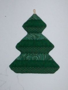 Quilted Christmas Tree Ornament PATTERN Q002 by OriginalsByTerry, $3.00