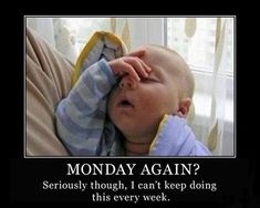 Check out: Baby Memes - Tomorrow's Monday? One of our funny daily memes selection. We add new funny memes everyday! Bookmark us today and enjoy some slapstick entertainment! Funny Baby Memes, Funny Babies, Funny Kids, Funny Cute, Funny Jokes, Funny Work, Funny Happy, Baby Humor, Funny Sayings
