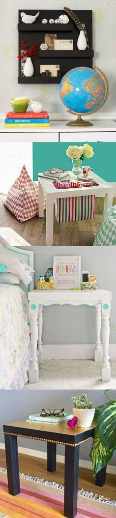 The Lack side table is under $10 at IKEA; If you want to try an IKEA Lack table hack of your own, you'll love this collection of projects! via @diy_candy