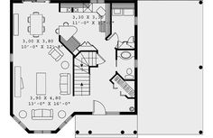 Victorian House Plan 65247 Level One
