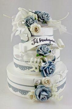 BRYLLUPS ESKE TUTORIAL - GJESTEDESIGNER ASTRID SOLBAKKEN Exploding Boxes, Scrap, Tutorials, Crafty, Cake, Weddings, Kuchen, Torte, Cookies
