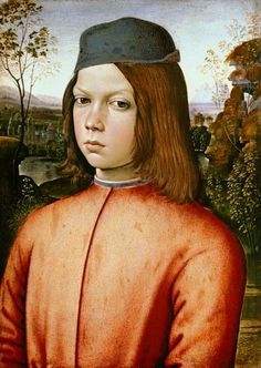 Portrait of a boy, thought to be Cesare Borgia (1475-1507) - Son of a Pope and brother of the famous Lucrezia
