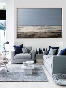"""Freue mich, euch diesen Artikel aus meinem Shop bei #etsy vorzustellen: VICTORIA Acryl Gemälde 120x80cm """"Sea Vew III"""" Acrylbild Abstrakt, Modern Outdoor Sofa, Outdoor Furniture, Outdoor Decor, Victoria, Abstract, Modern, Etsy, Home Decor, Abstract Art"""