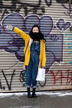 such a cruiser. #XiaoWenJu & all her layers #offduty in NYC.