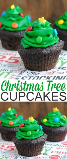 These Christmas Tree Cupcakes are a great Christmas party idea that are so easy to put together and perfectly seasonal. Aren't they adorable?