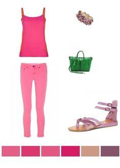 Pink, Purple & Green