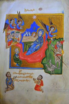 Matenadaran, Yerevan Palatine gospel, Scribe and Painter Sarkis Pitzak, Sis, 1336. Armenian manuscript, Matenadaran, Yerevan. One of the world's richest depositories of medieval manuscripts and books. by stefan_fotos