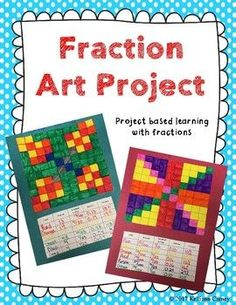 Get your students excited about fractions with this arts integrated project based learning assignment. This fraction art project allows your students to show their creativity, artistic abilities, and math skills.Your students will use their artwork to form simplified fractions, decimals, and percents in a fun way.
