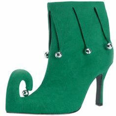 Adult Women's Green Elf Costume Shoes (Size: « Holiday Adds