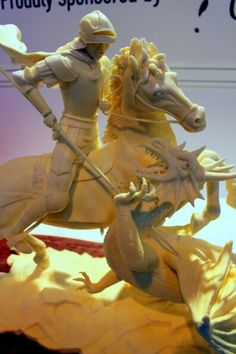 George and the dragon butter sculpture