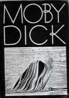 Collection of Moby Dick book covers. 1: I like this particular cover, and 2: A collection of covers from a single book is a cool idea. Series to hang on a wall?