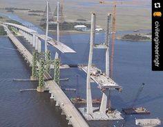 #Puente Sidney Lanier sobre el río Brunswick, #Georgia. Construido para sustituir un puente levadizo vertical. vía Twitter Geotechtips #ingeniería