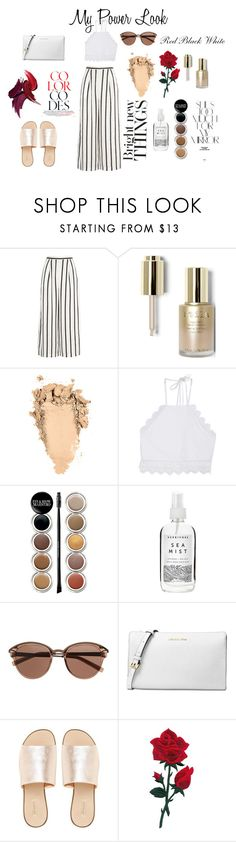"""""""My power look"""" by shruthi-ellusamy ❤ liked on Polyvore featuring Finders Keepers, Stila, Front Row Shop, Giorgio Armani, Herbivore, Witchery, Michael Kors, L.E.N.Y. and Rika"""