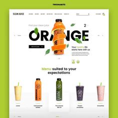 Clean Juice Web Design Landing Page — Landing page a juice bar that is actually healthy! With locations nationwide, his Food Web Design, Clean Web Design, Online Web Design, Web Design Studio, Web Design Quotes, Web Design Company, Grid Design, 2020 Design, Design Design