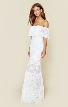 Nightcap Clothing Dresses White Dresses Positano Maxi Dress
