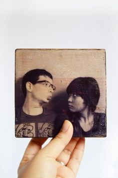 Inkjet photo transfer to wood with Mod Podge