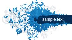 Blue frame Vector Graphic