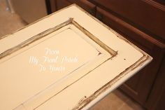 Old Ochre Annie Sloan Chalk Painted Kitchen Cabinets- From My Front PorchTo Yours