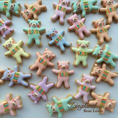 Teddy Bear Cookies // Icingland