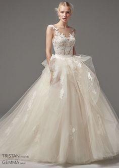 Featured Wedding Dress: Maggie Sottero Designs; www.maggiesottero.com; Wedding dress idea.