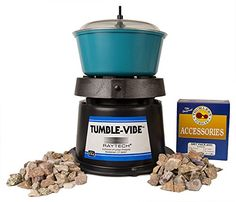 Single Barrel Rock Polishing Tumbler and Geology Kit with Grit and Accessory Kit *** Learn more @