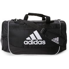 Adidas Black   White Defense Medium Duffel Bag ( 20) ❤ liked on Polyvore  featuring bags 559548ba33997