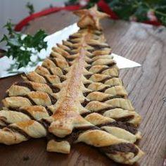 Bladerdeeg kerstboom met Nutella®