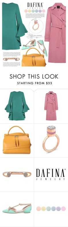 """DAFINA JEWELRY"" by tiziana-melera ❤ liked on Polyvore featuring Theory, Jil Sander, Kate Spade and Deborah Lippmann"