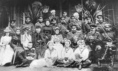 Three generations of Russian royalty at the military settlement of Krasnoe Selo in 1892, gathered for the summer manoeuvres.