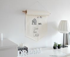Paper Roll Banner  •  Free tutorial with pictures on how to make a hanging in under 30 minutes