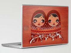 Matroishkas on a laptop skin!