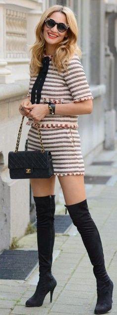 #summer #trending #outfits |  Stripe Summer Set + Black
