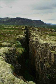 2/15/14 8:49p National Park Rift Valley Thingvellir Iceland Crevice Chasm Ravine horngry.tumblr.com
