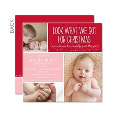 Christmas card/Birth announcement card