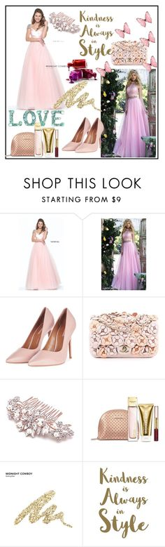 """homecomingqueendress"" by aazraa ❤ liked on Polyvore featuring Sherri Hill, Topshop, Chanel, Michael Kors, Urban Decay, Sixtrees and homecomingqueendress"