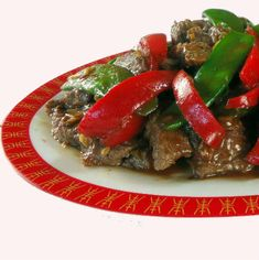 Chili Beef Stir-Fry with Bell Peppers and Snow Peas
