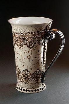 Keramiktasse Tee Tasse Handbuilding Techniken von StudioRosalina