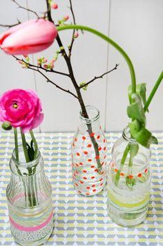 Diy Mason Jars : DIY Easter flower bottles