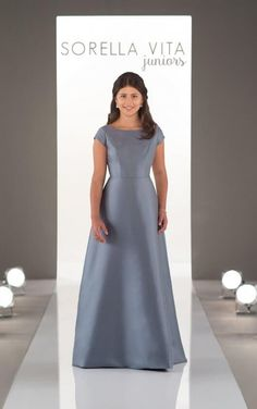 J4018 High Neckline Juniors Bridesmaid Dress by Sorella Vita Sorella Vita Bridesmaid  Dresses 2a34bab3ec99