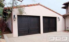 California Dream 12 | Dark Wood (Espresso) Traditional Custom Garage Door Design mediterranean garage doors