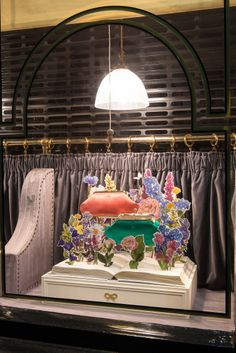Anya Hindmarch Floral Window Display | Chelsea Flower Show by Millington Associates