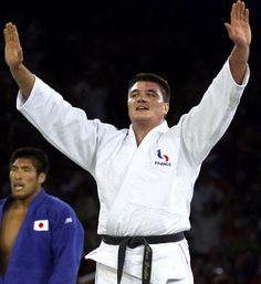David Douillet won the judo heavyweight gold medals in the 1996 and 2000 Olympic Games in Atlanta and Sydney