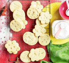 The simplest biscuits you and the kids will ever bake. We've stamped clean toys into these to decorate them - try your own favourite patterns