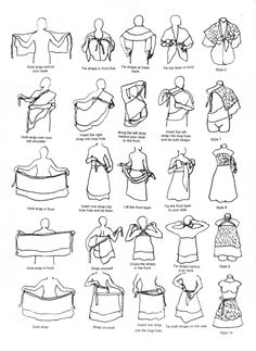 Instructions how to wrap vintage silk sari multi-layer reversable wrap skirt Milliana Designs